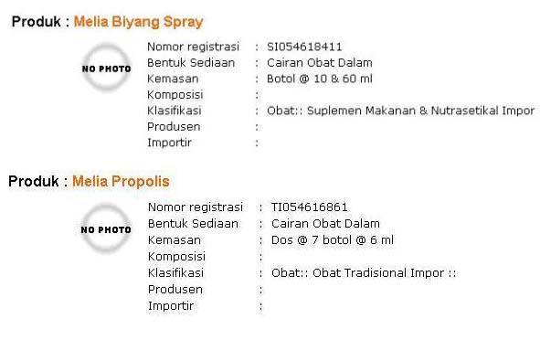 Melia Nature Terdaftar di Kementerian Perdagangan dan Produknya Terdaftar di BPOM 9