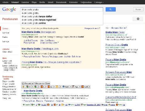 Cara Mencari Iklan Baris Gratis Lewat Google 2